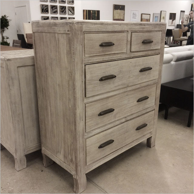 5-drawer high chest