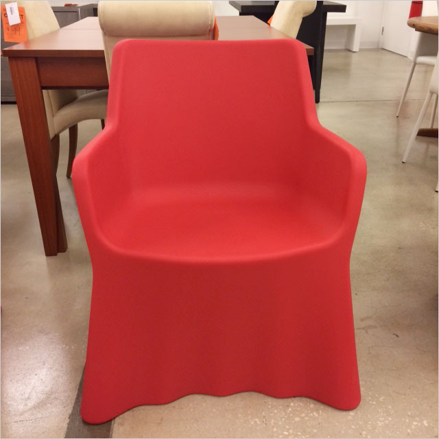 outdoor chair in red