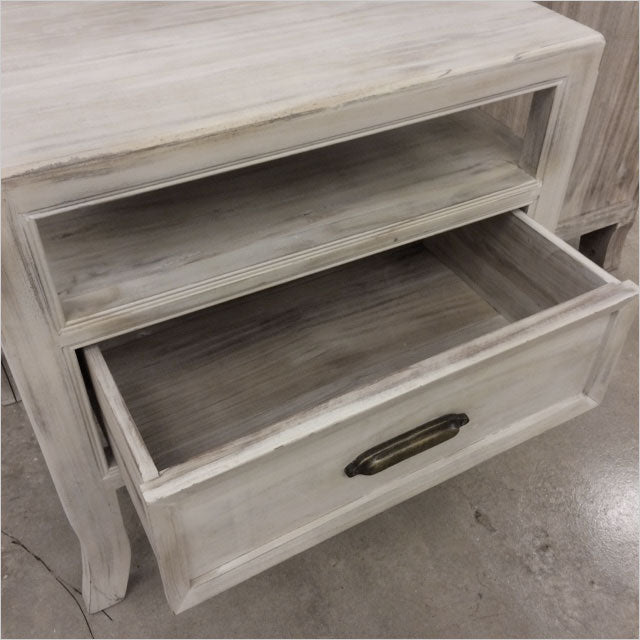 nightstand with drawer and shelf