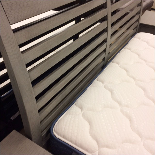 platform bed with slatted headboard
