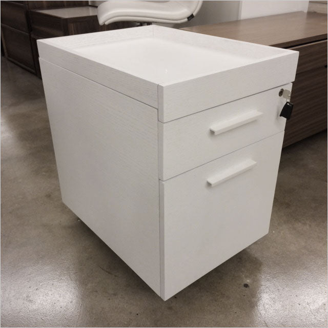 white file cart