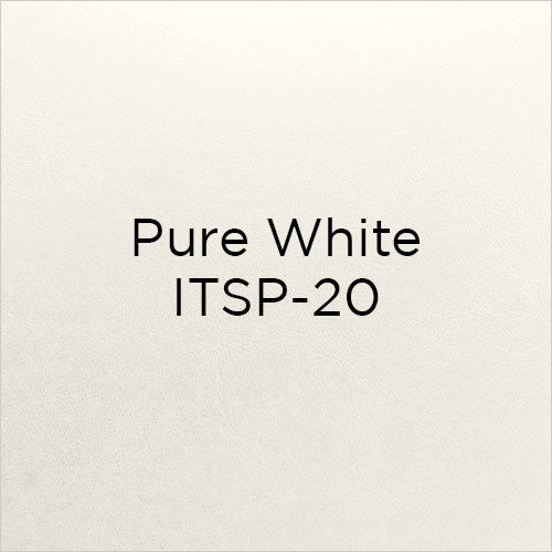 pure white bonded leather swatch