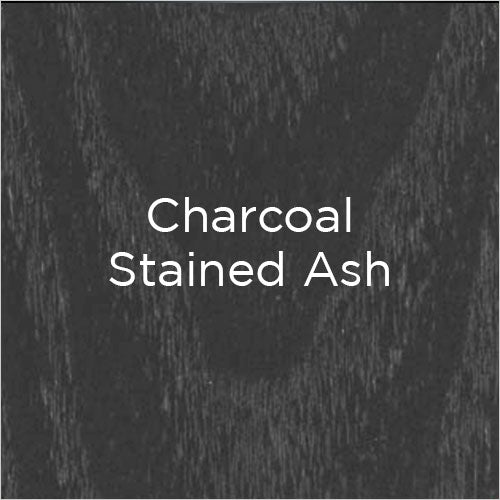 charcoal stained ash wood swatch