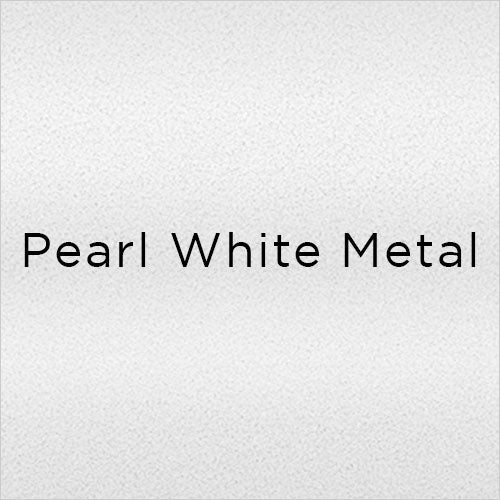 pearl white powder-coated metal swatch