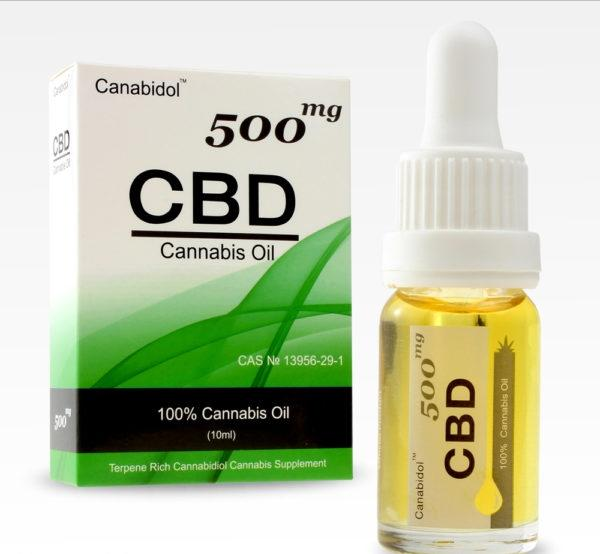 Canabidol 500mg 10ml CBD oil