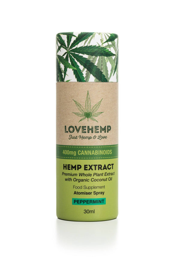 Love Hemp 400mg CBD Oil Spray 30ml (Peppermint flavour)