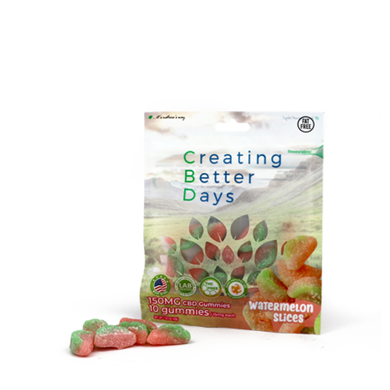 CBD Gummies Watermelon Slices
