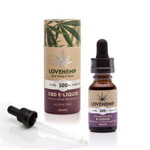 Love Hemp 100mg CBD 15ml Grape flavour E-Liquid