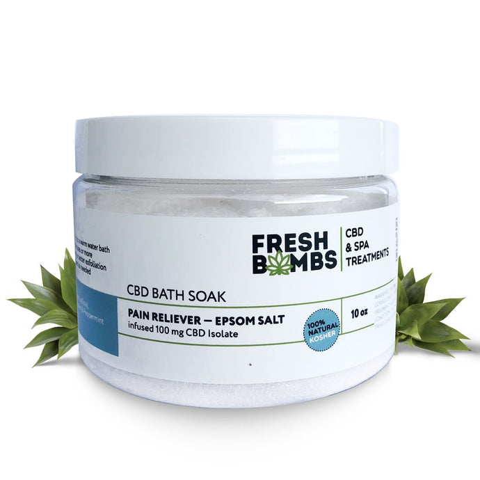 Fresh Bombs CBD Bath Soak 100mg Pain Reliever Epsom Salts 10oz