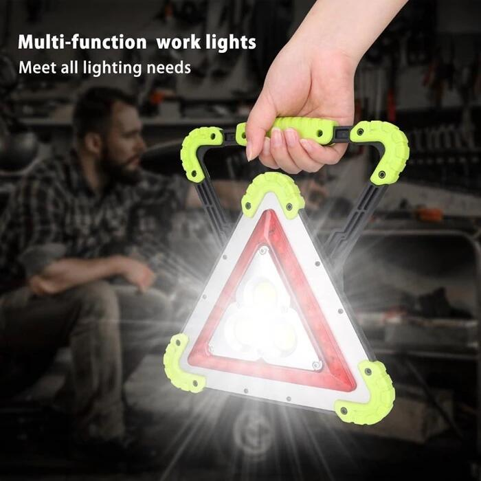 Solar charging - emergency multi-function triangle warning light