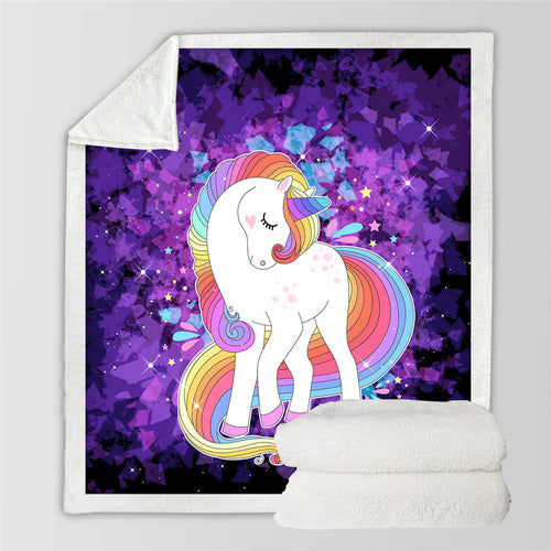 Magical Unicorn Throw Blanket