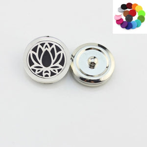 Essential Oil Diffuser Snap Button- Lotus Flower