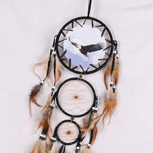 Load image into Gallery viewer, Indian WOLF Dreamcatcher with Feathers