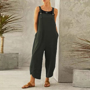 Casual Cotton Linen Romper Jumpsuit
