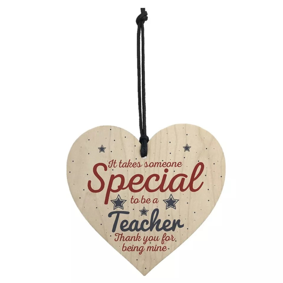 Teacher Gift- Wooden Heart Special Teacher