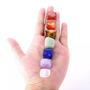 Natural 7 Crystal Healing Tumbled Stones Set