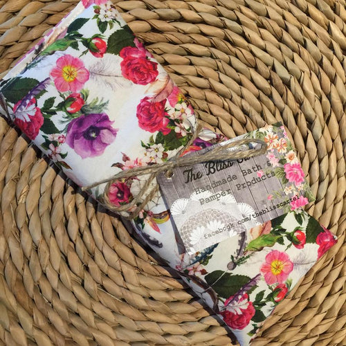 Boho White Floral Lavender Eye Pillow