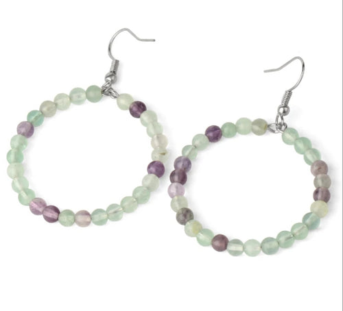 Fluorite Gemstone Earrings