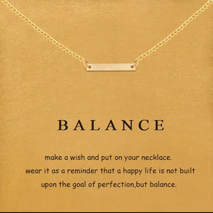 Affirmation Card & Necklace - Balance