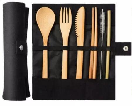 Eco- Friendly Bamboo 7 piece Cutlery Set