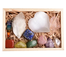 Load image into Gallery viewer, Chakra Pendulum & Crystal Healing Set