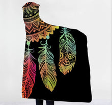 Load image into Gallery viewer, Mandala Dreamcatcher Hooded Blanket