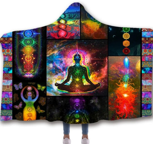 Higher Consciousness Hooded Blanket