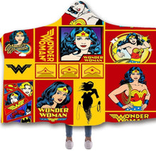 Load image into Gallery viewer, Wonder Woman Hooded Blanket