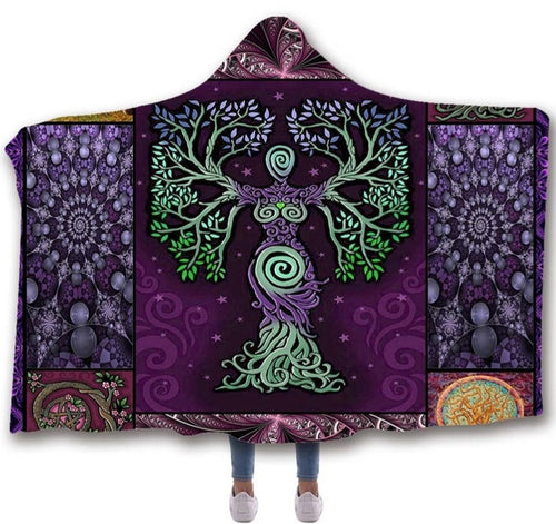 Celtic Tree of Life Hooded Blanket
