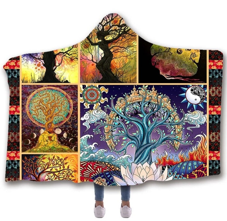 Enchanted Forest Hooded Blanket