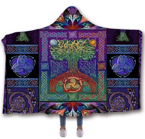 Mystical Elements Hooded Blanket