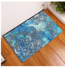 Load image into Gallery viewer, Blue Mandala Dreaming Floor Mat