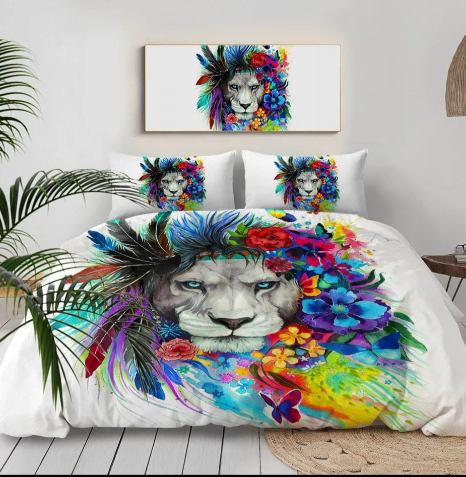 Colourful Lion Doona Cover Set