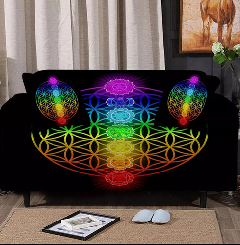 Chakra Flower of Life Sofa Cover Set