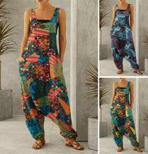 Load image into Gallery viewer, Harem Overall Jumpsuit - Green