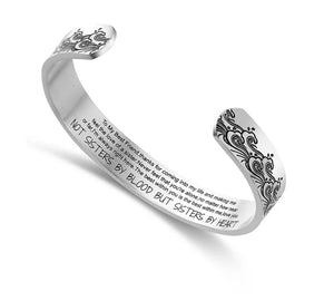 Best Friend, Sisters by Heart Cuff Bangle