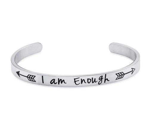 Silver Arrow I am Enough Bangle