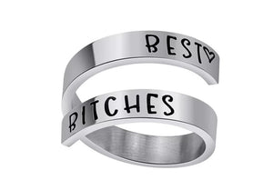 Inspirational Quote -Best Bitches Stainless Steel Ring