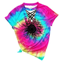 Load image into Gallery viewer, Sunflower Tie Dye Tshirt