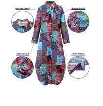 Load image into Gallery viewer, Boho Patchwork Cotton Dress
