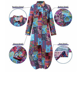 Boho Patchwork Cotton Dress