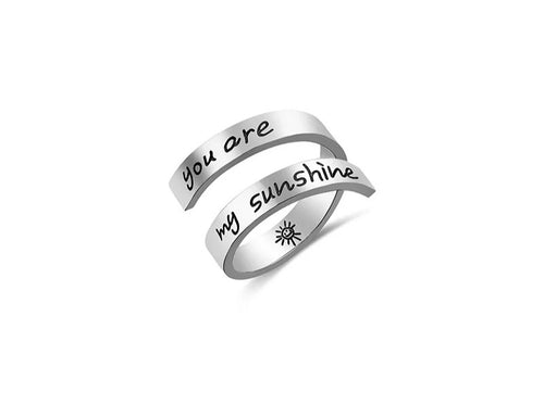 Inspirational Quote- You are my sunshine Ring