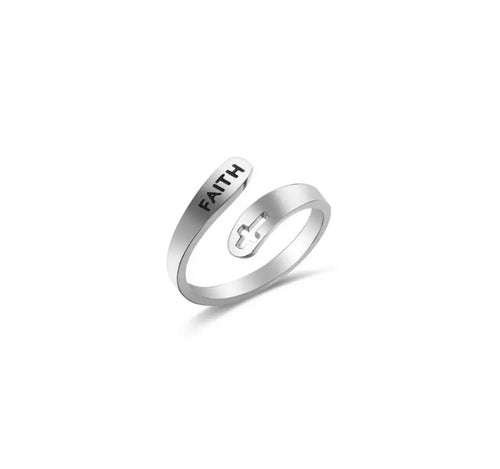 Faith Stainless Steel Ring