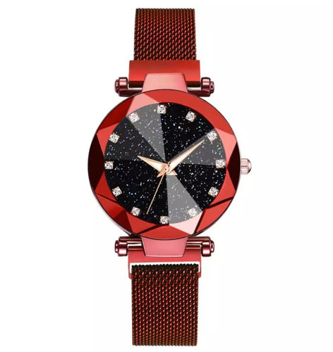 Diamond Starry night Mesh bracelet Watch