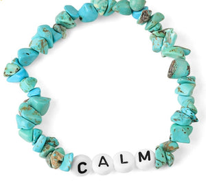 Turquoise Crystal Chip Bracelet- Calm