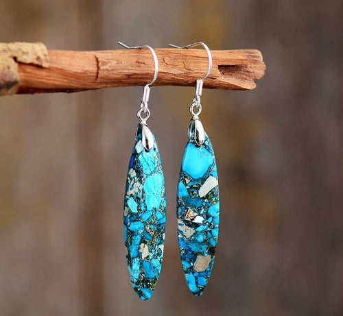 Ocean Serenity Jasper Earrings