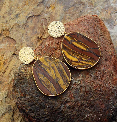 Tiger's Eye Protection Earrings