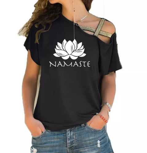 Namaste Lotus Flower T-Shirt