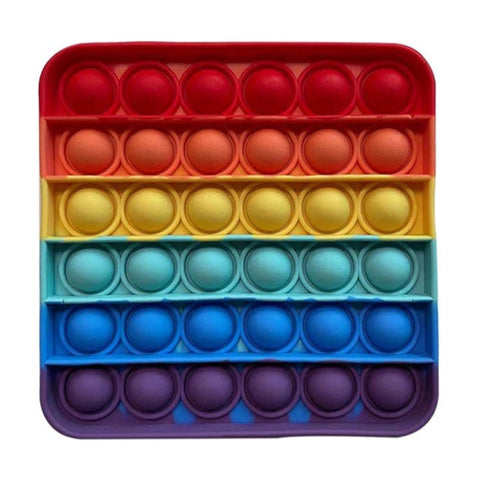 POP It Sensory Bubble Fidget Toy- Rainbow Square