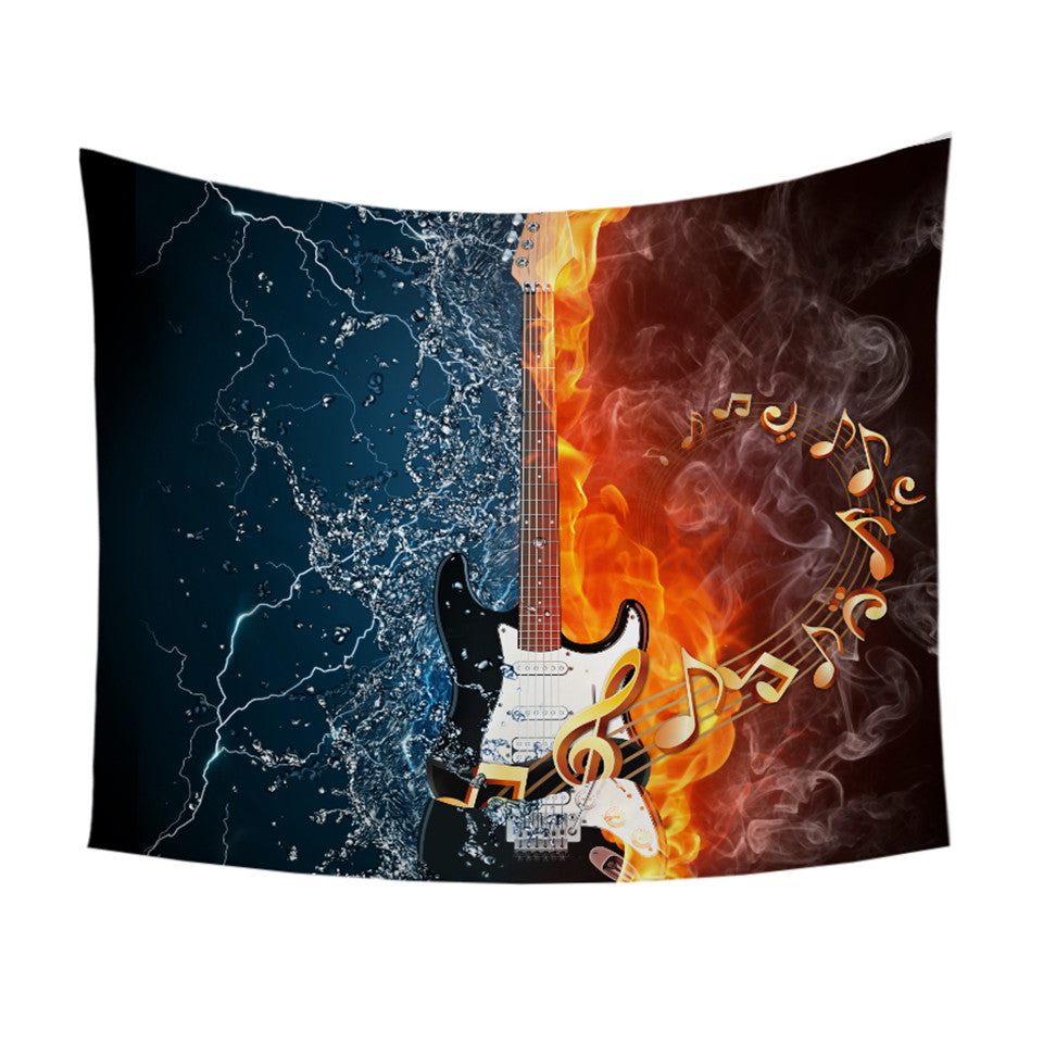 Water & Fire Guitar Tapestry